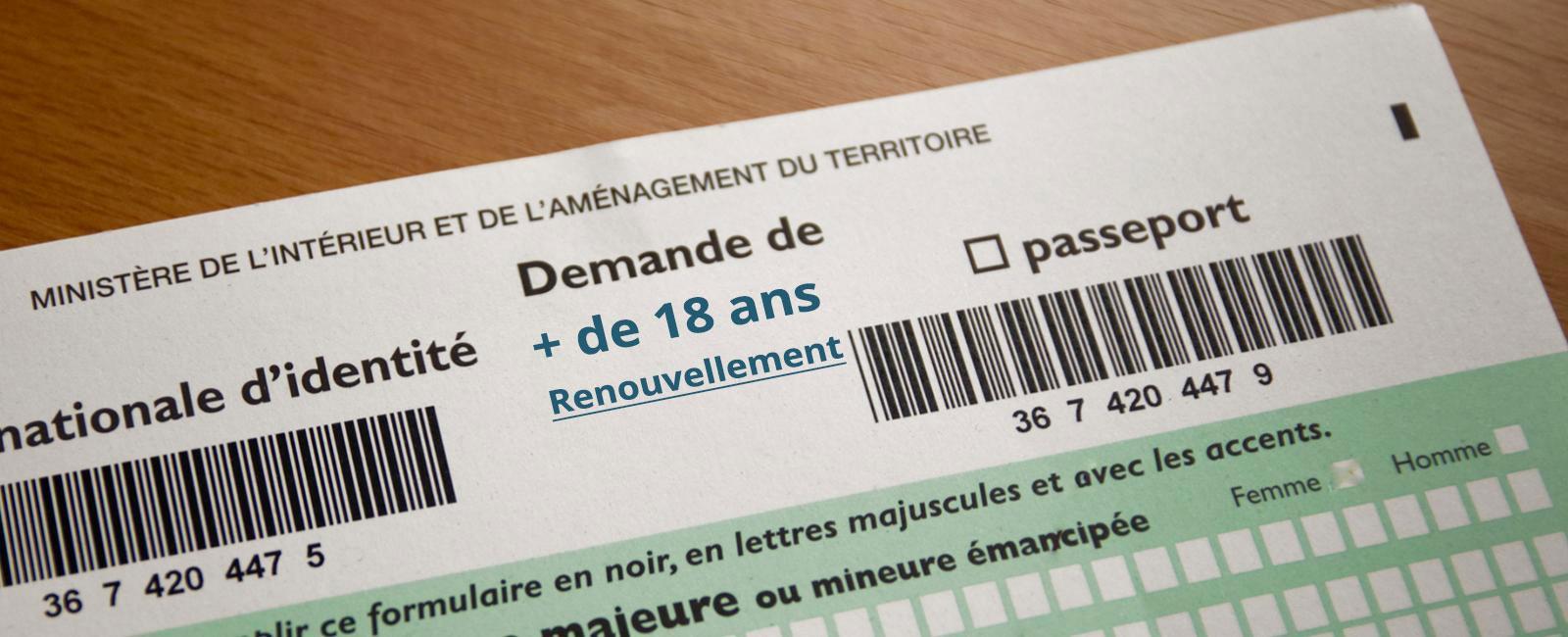Carte Nationale D Identite D Un Majeur Renouvellement Ville Du